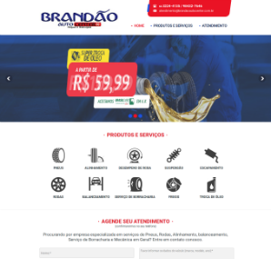 Site Institucional: Brandão Auto Center